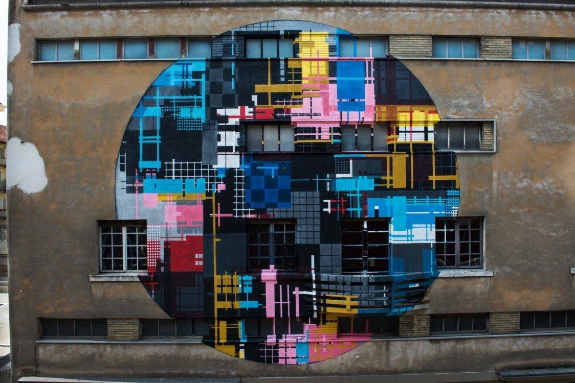 L'opera realizzata da Zedz al Teatro Colosseo di Torino. Foto di Livio Ninni.