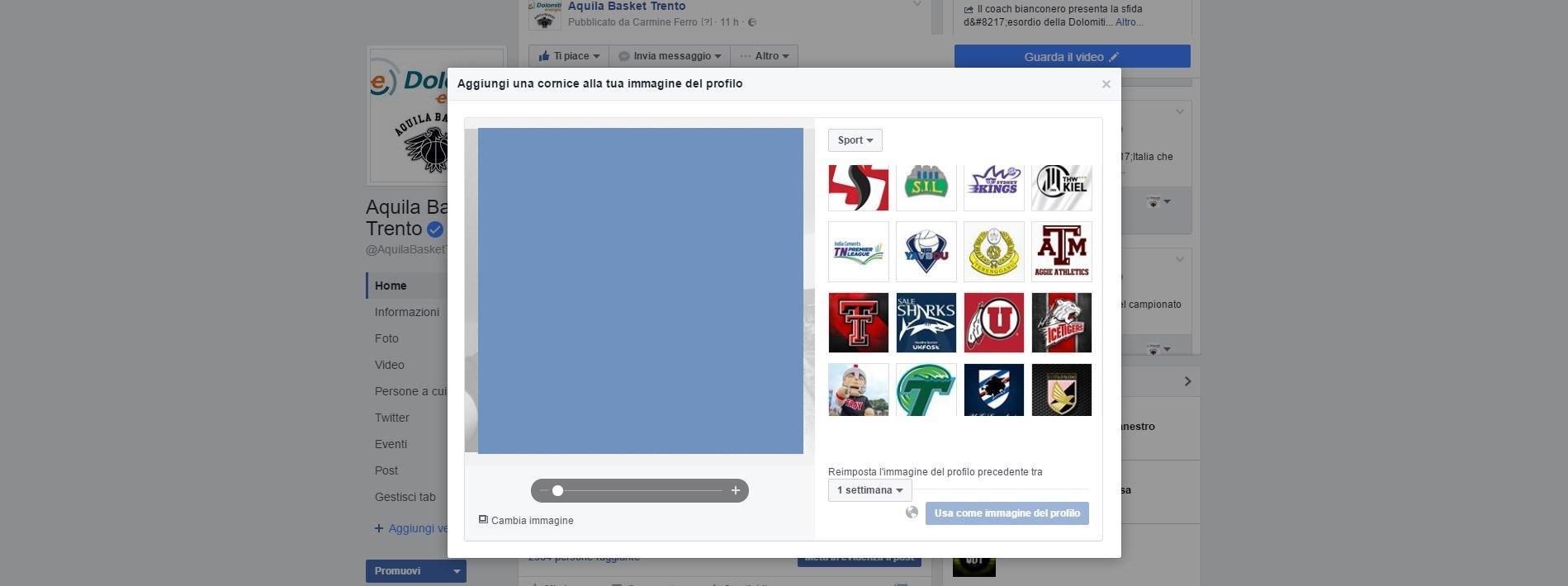 Come creare una Cornice per l'immagine del profilo su Facebook