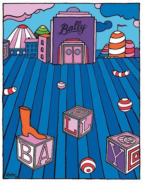 Il poster in edizione limitata realizzato da André Saraiva per Bally.