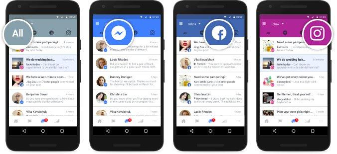 Facebook business- casella di posta unificata per Facebook, Messenger e Instagram2