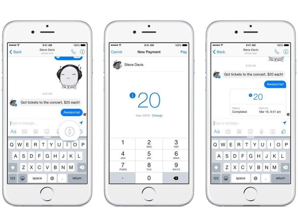 banca di facebook pagamenti su messenger