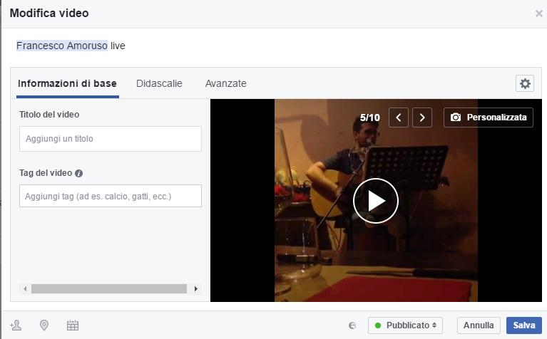 scaricare video diretta da facebook