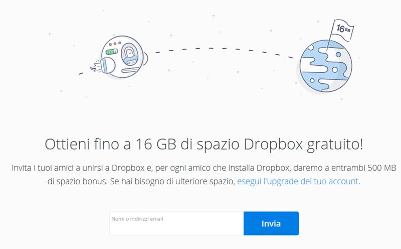 Esempio di Growth Hacking applicato da Dropbox