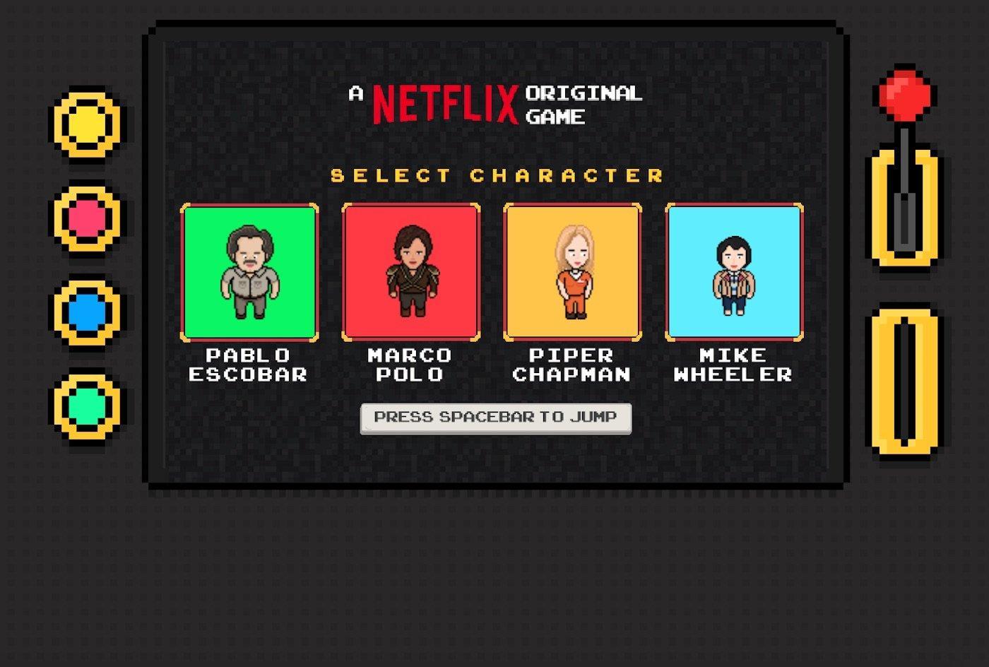 Flix Arcade, il videogioco di Netflix dedicato ai personaggi delle sue serie