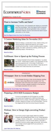 practical ecommerce email advertising best practice