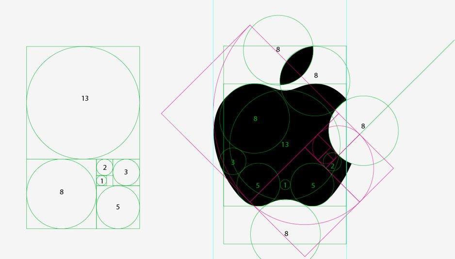 sezione aurea logo apple