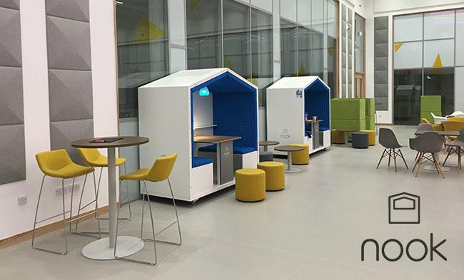 Adidas adotta gli spazi di lavoro Nook per gli uffici di Amsterdam