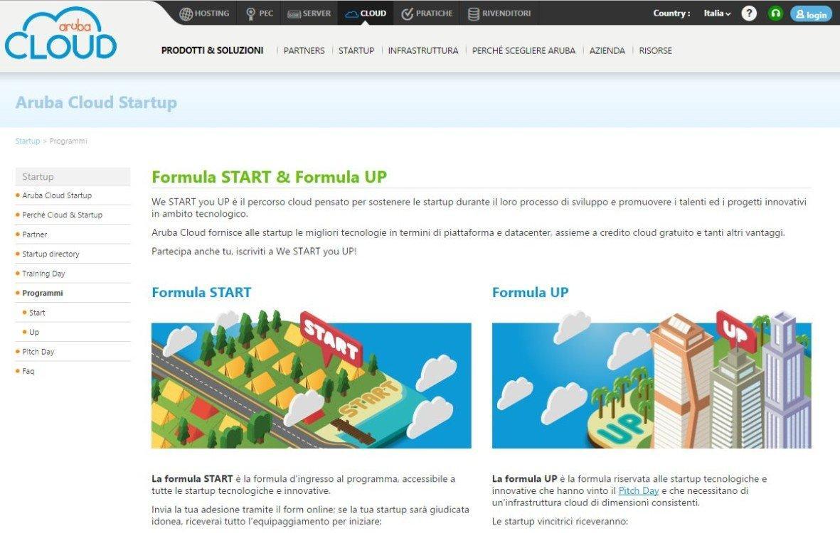 We START you UP: il nuovo programma Aruba per le Startup [INTERVISTA]