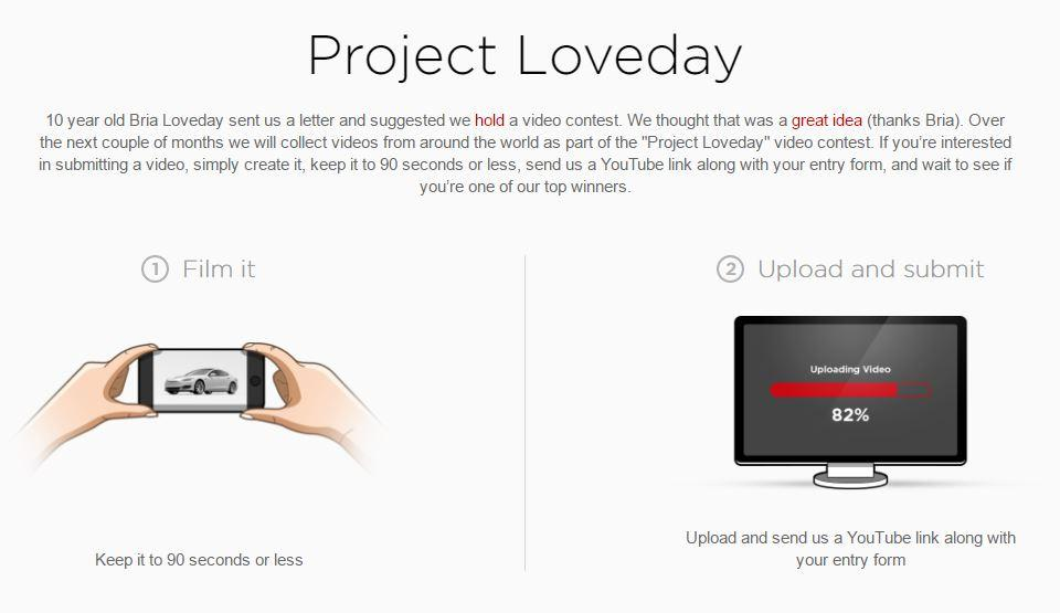 Project Loveday Tesla submit