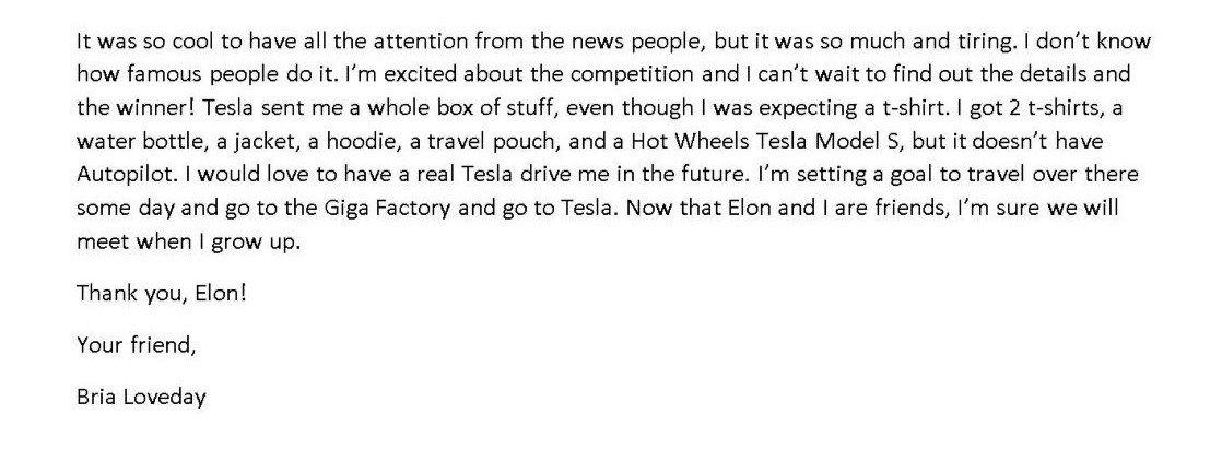 Project loveday campagna tesla