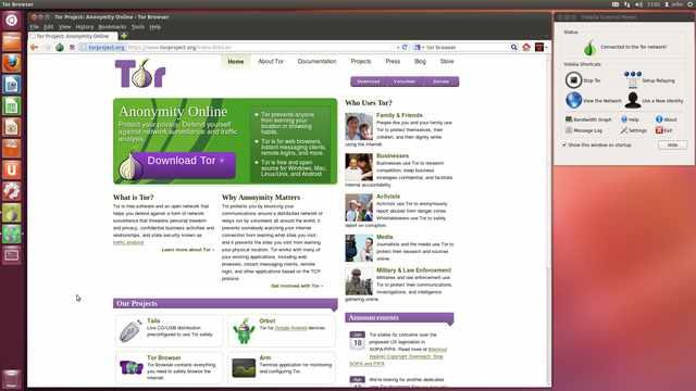 La pagina del progetto TOR