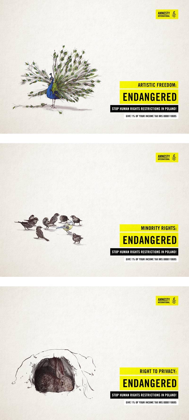 i migliori annunci stampa di Pasqua, Amnesty International