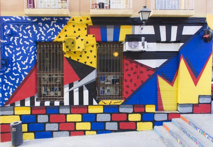 Il mediterraneo nella street art di Marest per Tiwel