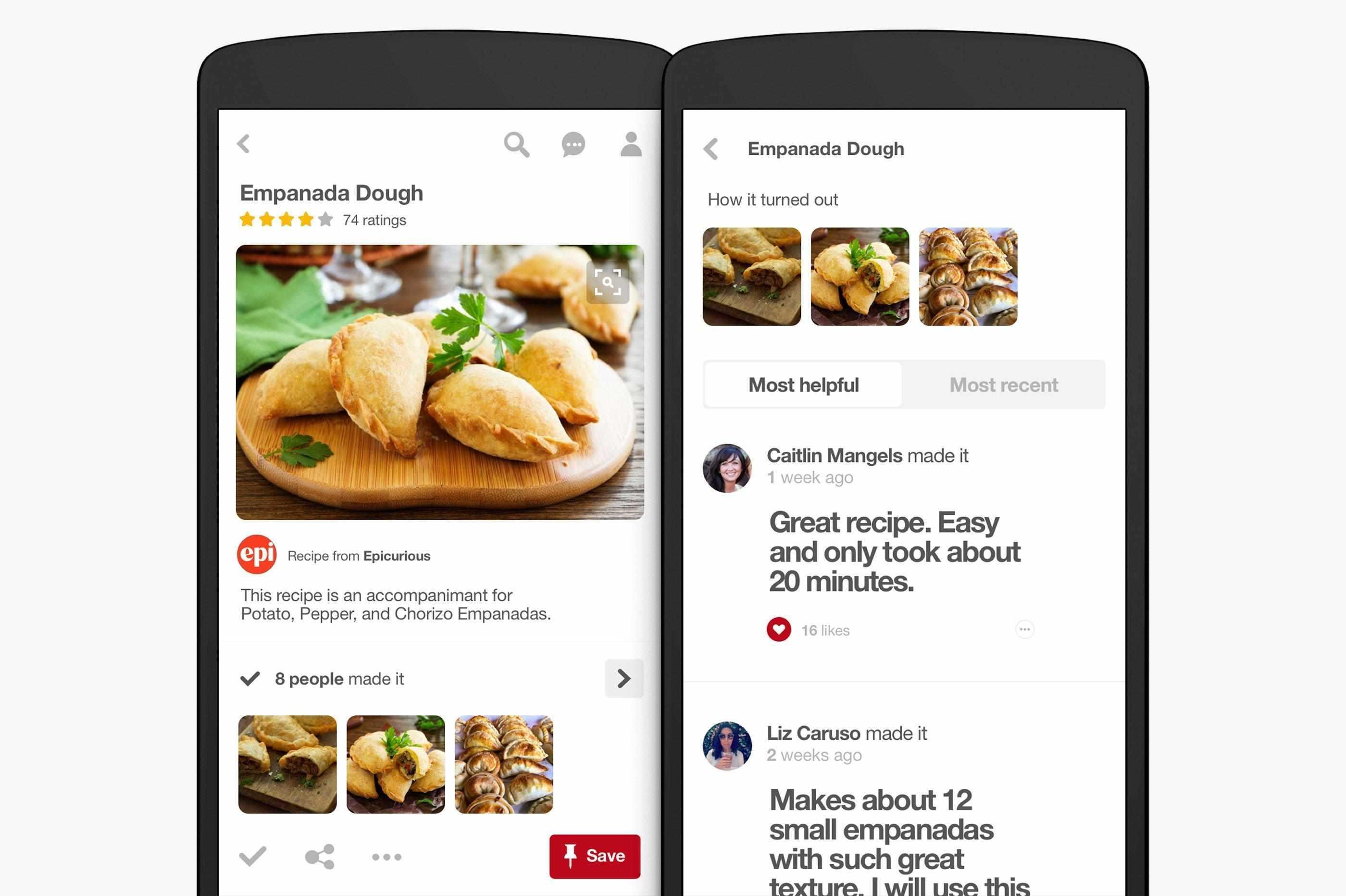 ricerca di ricette su pinterest