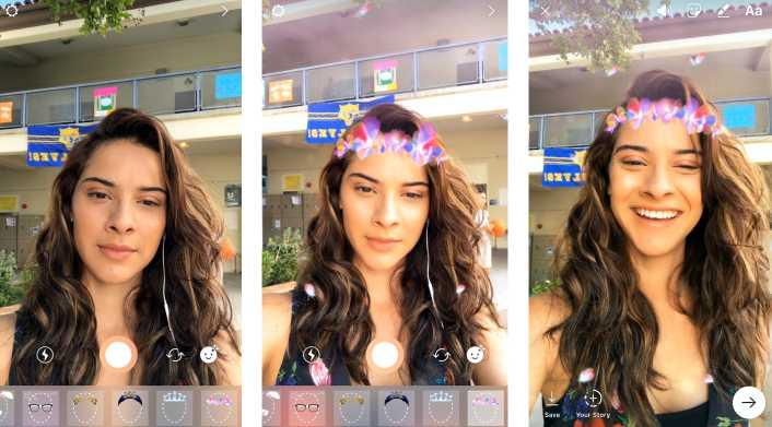 Filtri facciali su Instagram