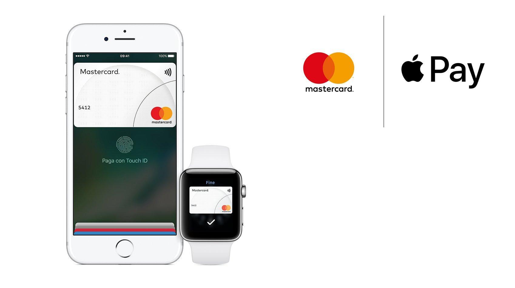 Apple Pay arriva oggi in Italia per i clienti Mastercard