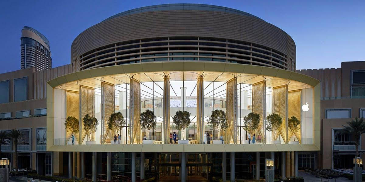Apple Dubai Mall, il nuovo store dell'Apple che interagisce con l'ambiente