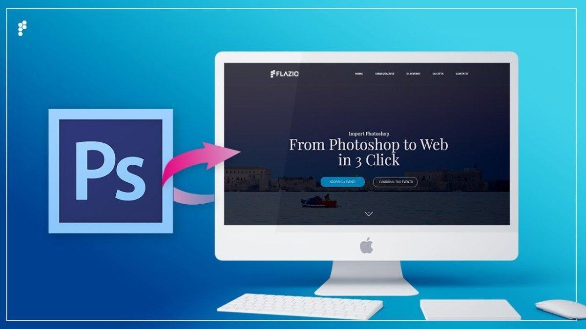 flazio photoshop to website