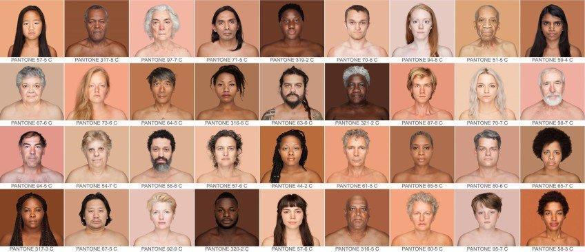 Progetto Humanae: colori Pantone per superare le differenze razziali