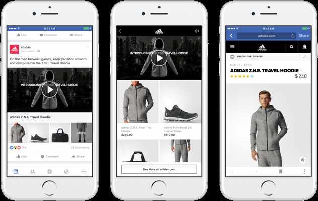 Esempio di come Adidas utilizza Facebook advertising nel formato raccolta
