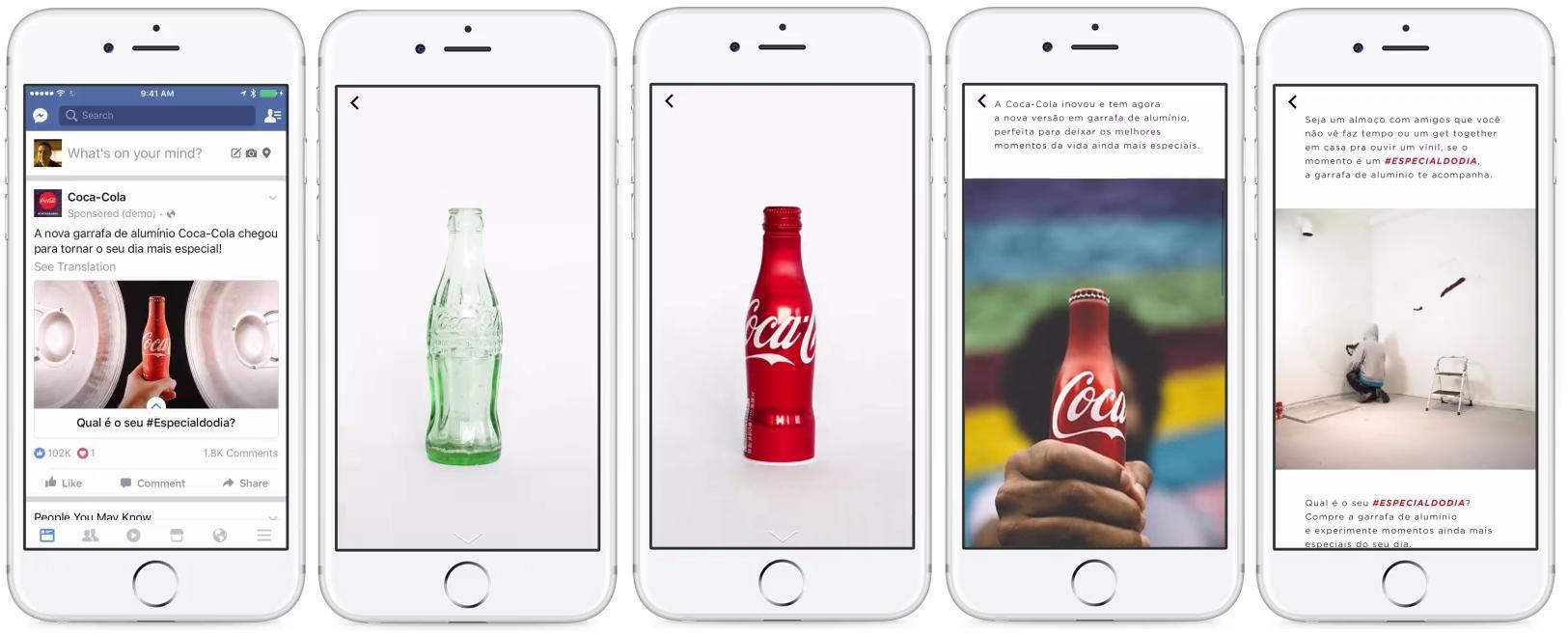 Coca cola utilizza Facebook Canvas per la sua advertising campaign