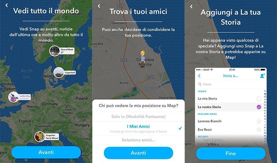 Snap Map su Snapchat