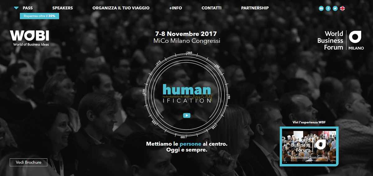 World Business Forum 2017: a Milano si parlerà di Humanification