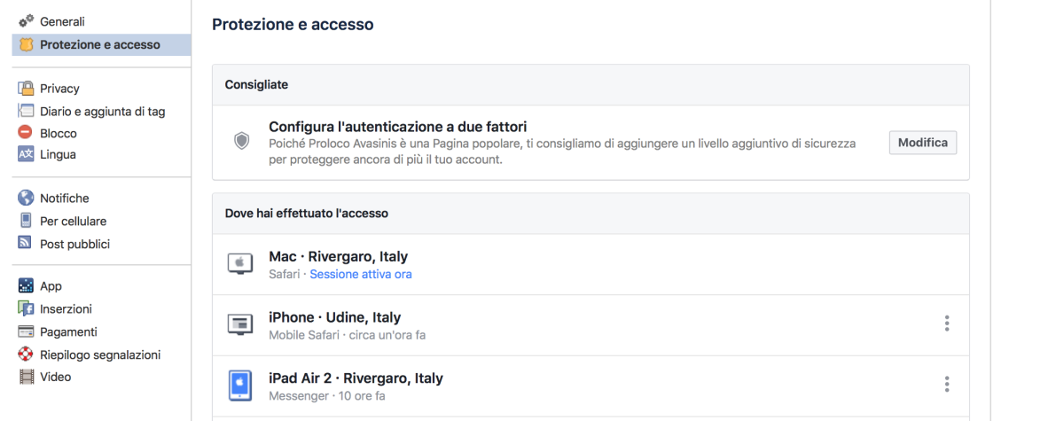 le impostazioni nascosta di facebook
