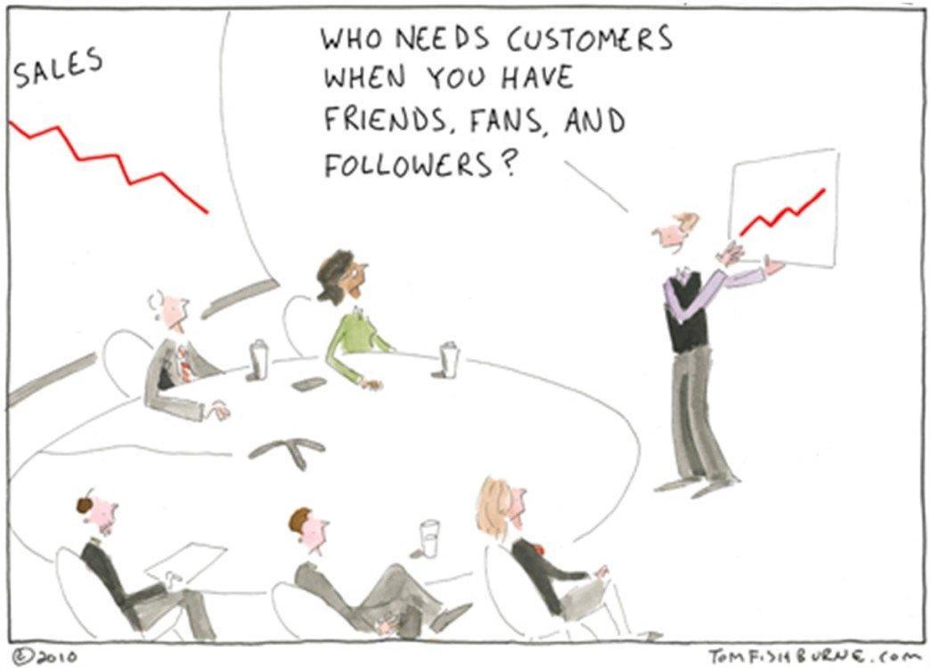 """Occorre valutare metriche di business e non metriche di """"Vanità"""". Fonte: Tom Fishburne"""