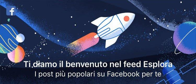 Facebook introduce il Feed esplora