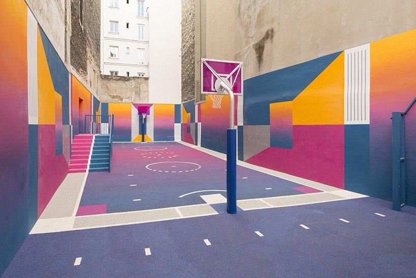 Arte, sport e colori si incontrano: Pigalle Duperré Court, Parigi
