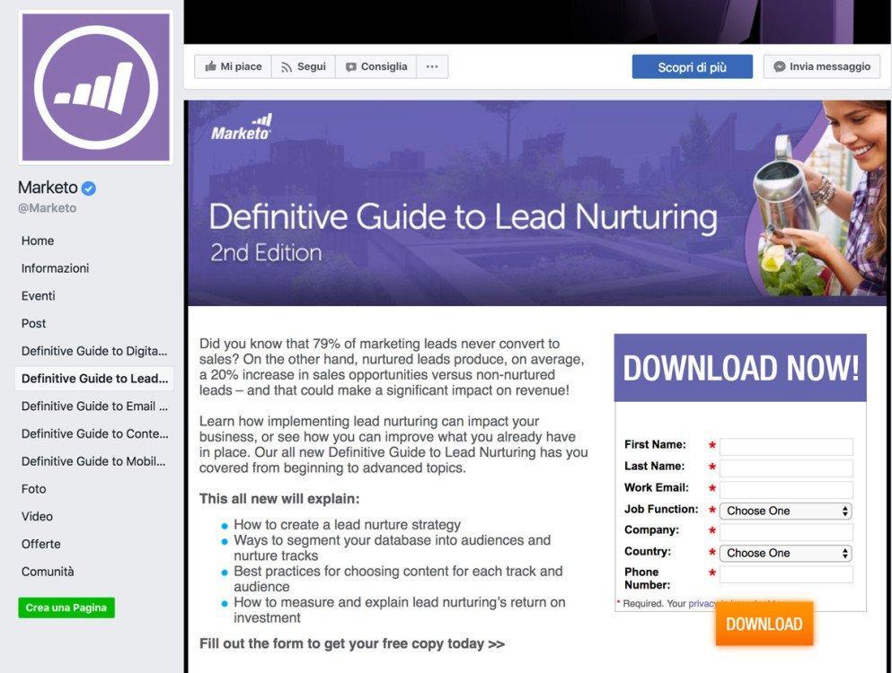 Le tab facebook per generare lead