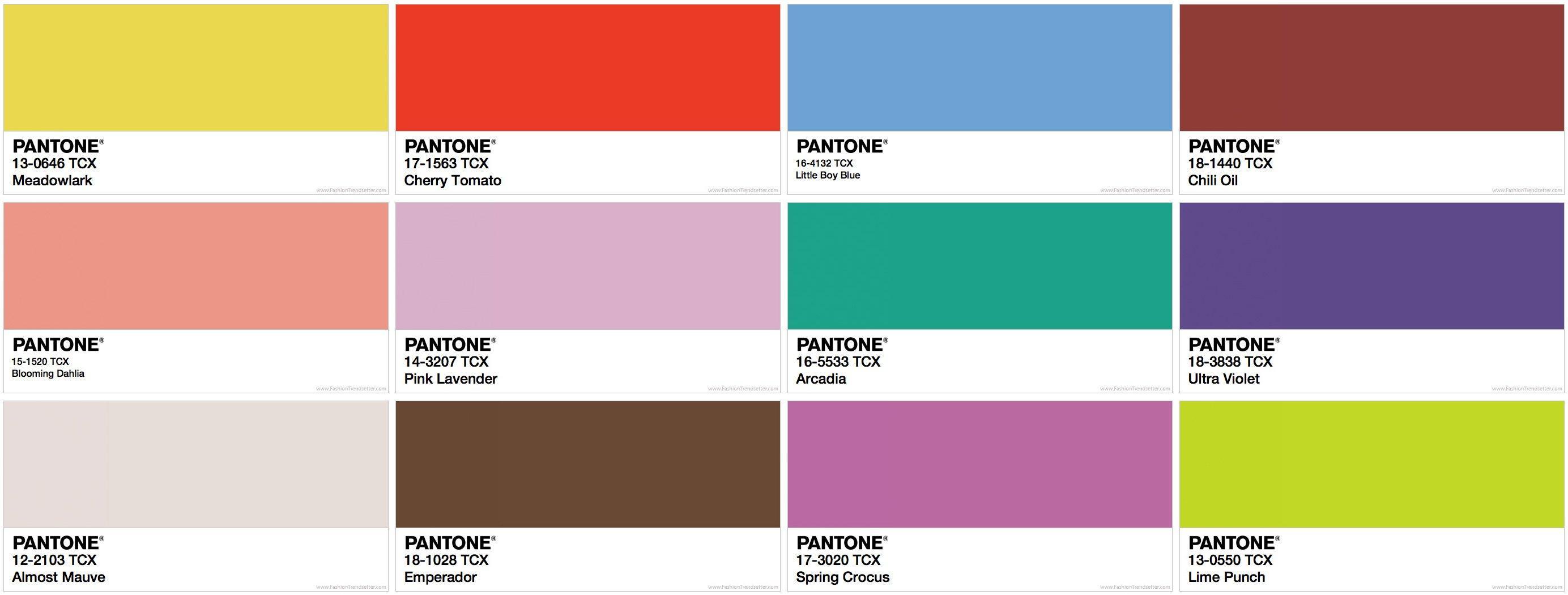 Pantone annuncia tutti i colori che indosseremo nella primavera 2018