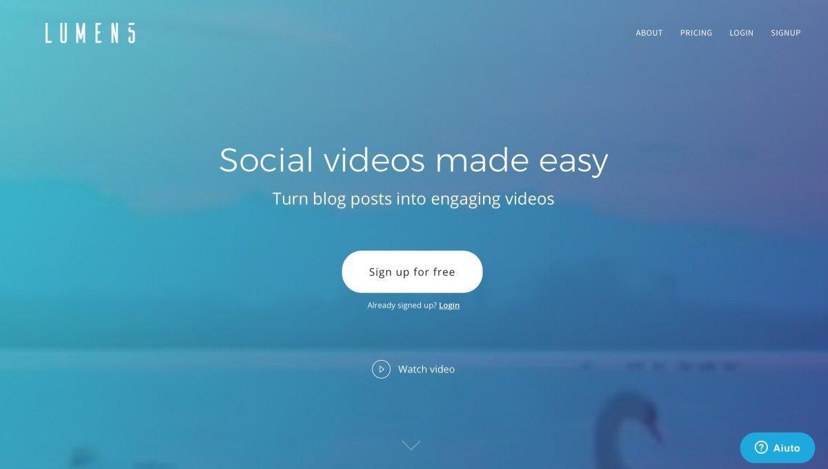 creare un video con lumen5