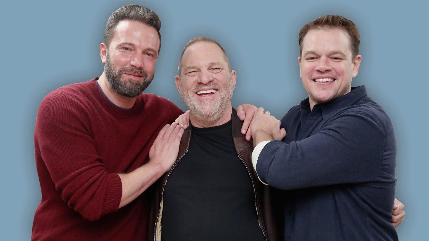 Ben Affleck, Harvey Weinstein, Matt Damon Credit: The Daily Beast