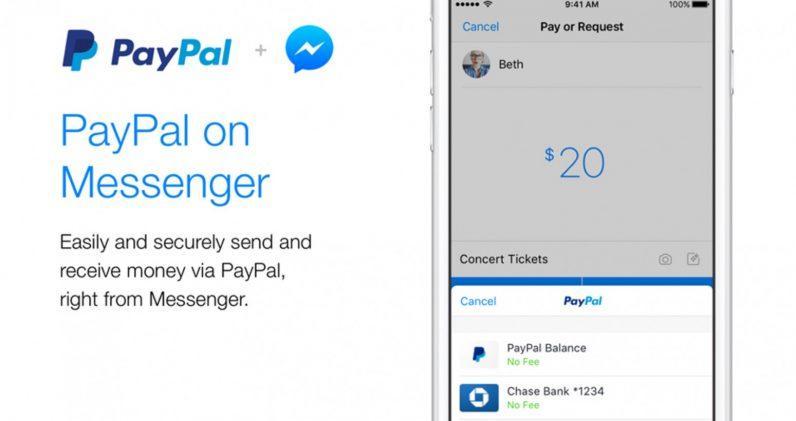 pay pal facebook messenger