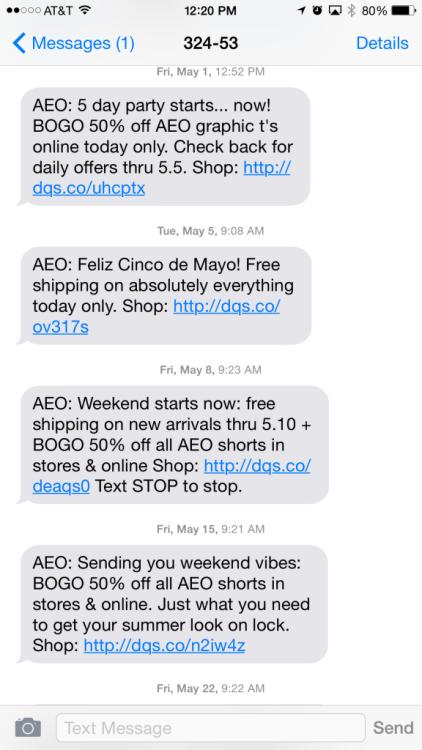 american eagle mobile marketing