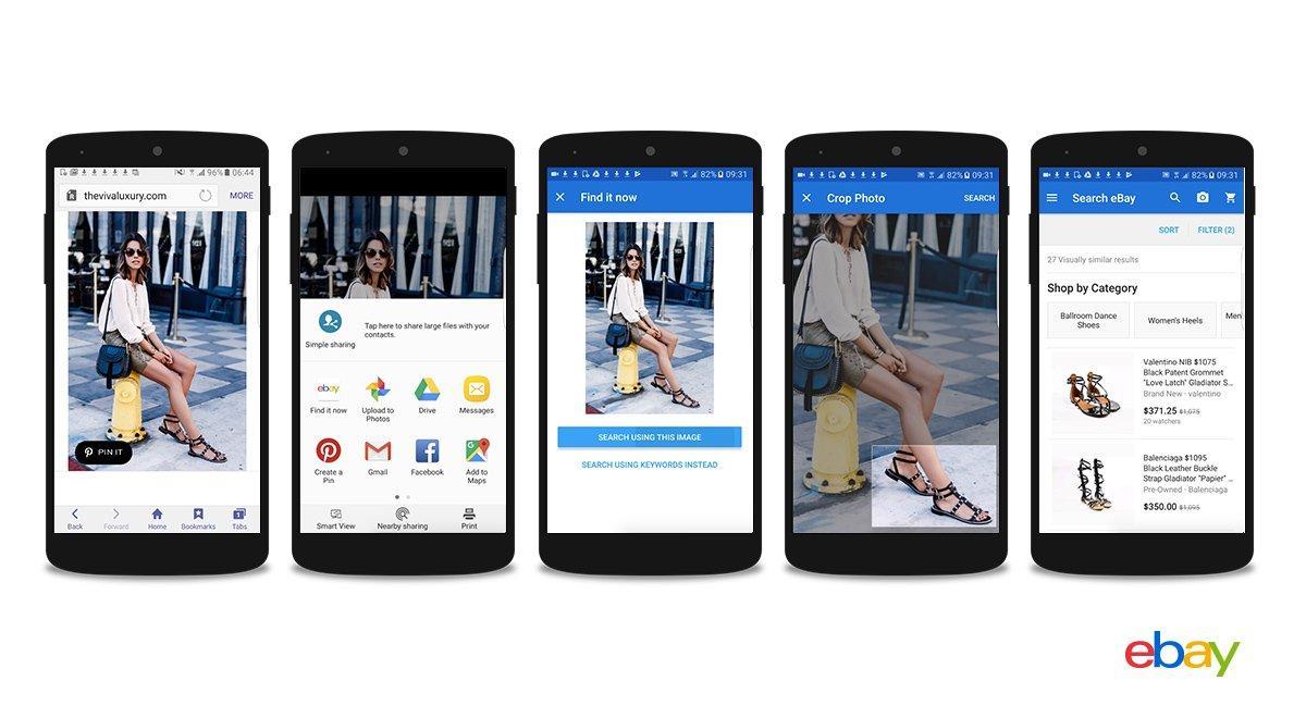 eBay scrive il futuro dell'eCommerce con la ricerca per immagini