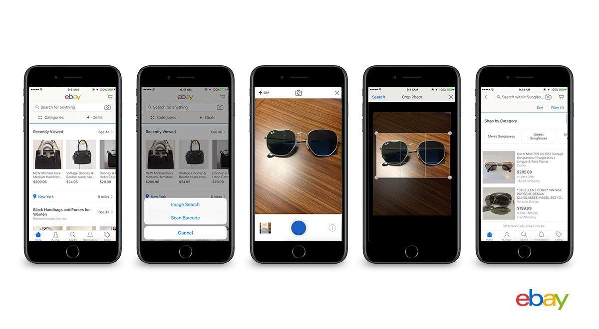 Ricerca Per Immagini Mobile ebay come amazon: adesso scatti la foto a cosa vuoi comprare