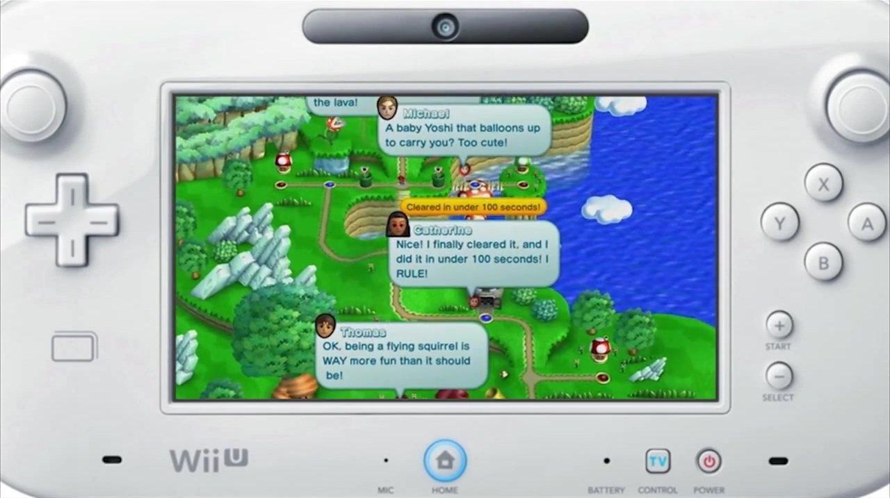 Commenti degli utenti costellano i livelli di Super Mario Bros U