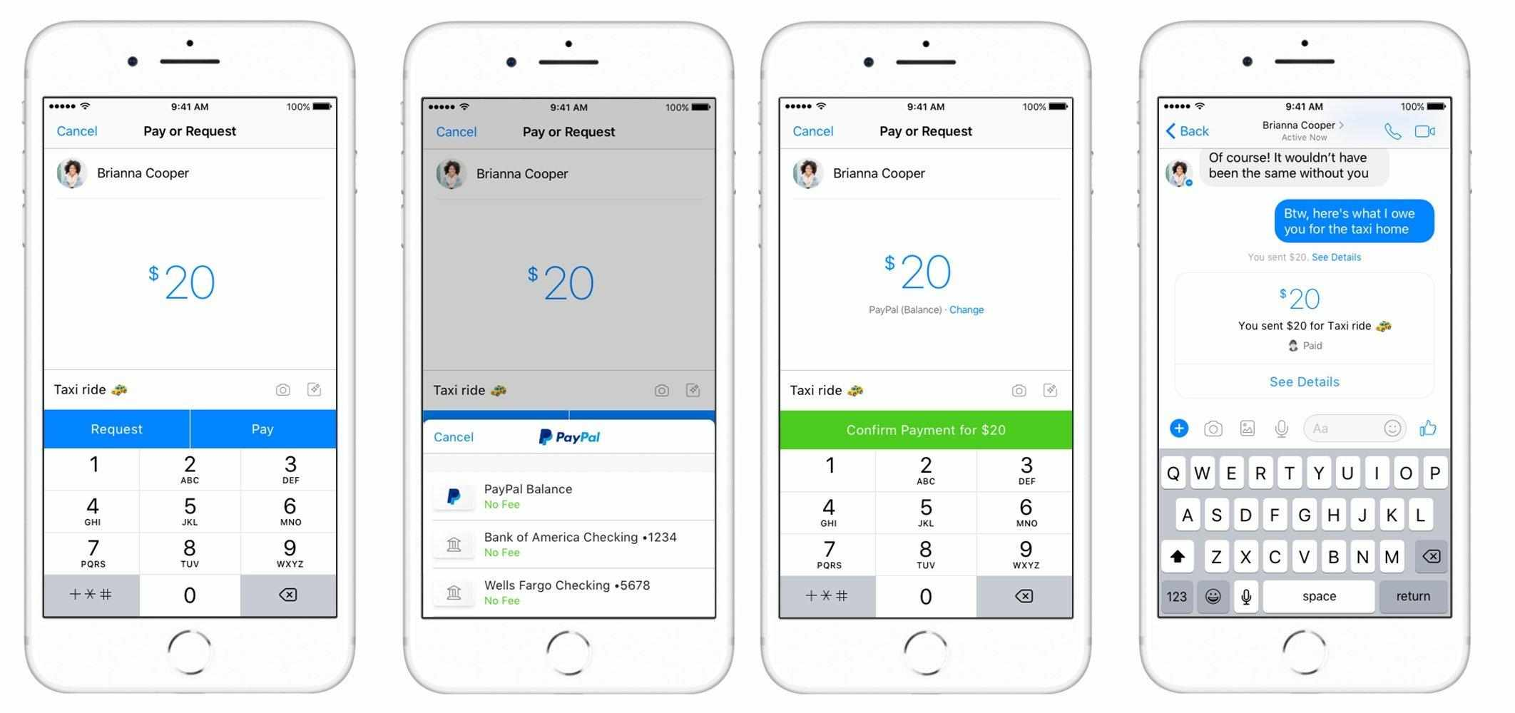PayPal arriva su Facebook Messenger