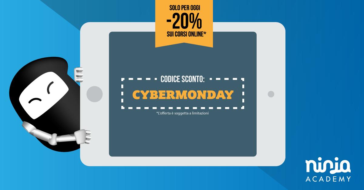 Oggi è il Cyber Monday: corsi online a -20%!