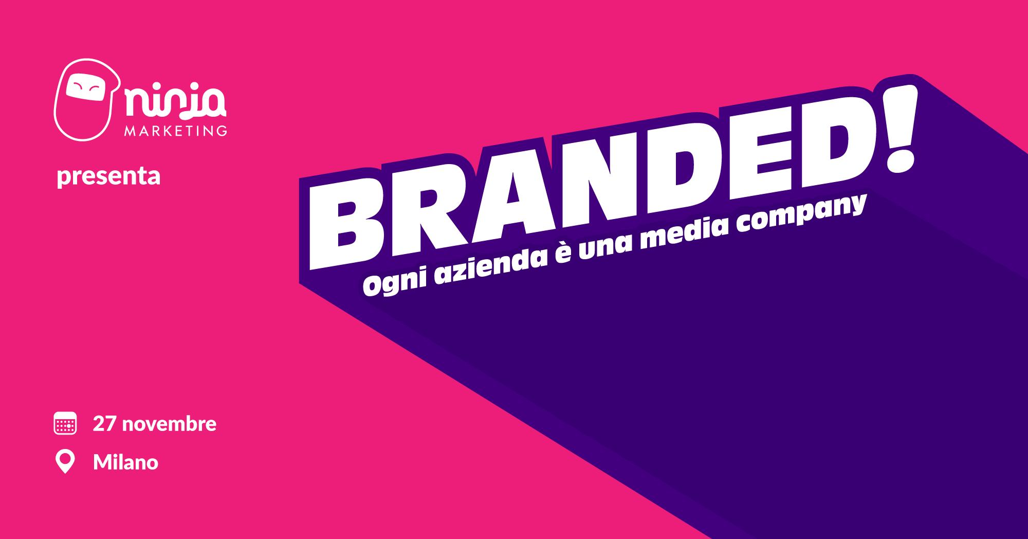 Solo 10 posti disponibili per l'evento sul Branded Content targato Ninja