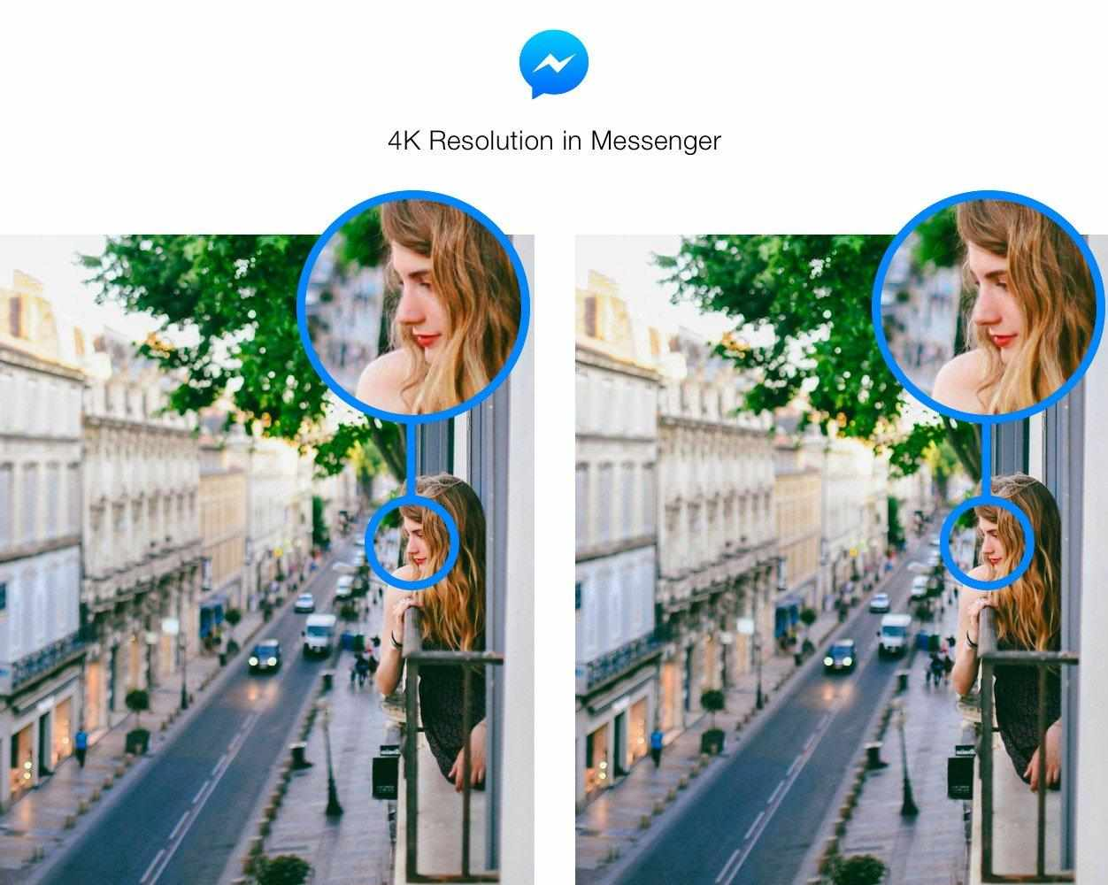 Foto in 4k su Facebook Messenger
