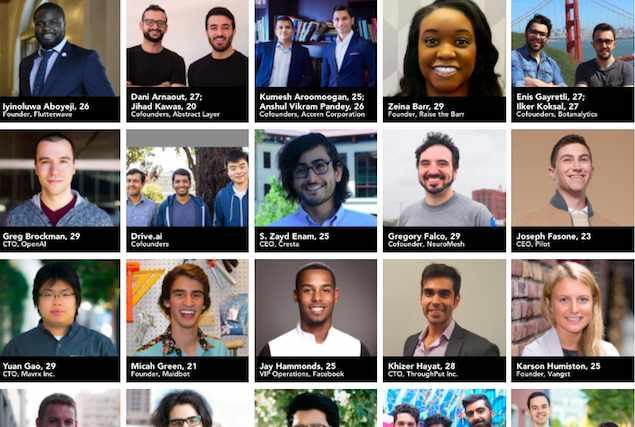 Chi sono i Top Under 30 del tech, secondo Forbes