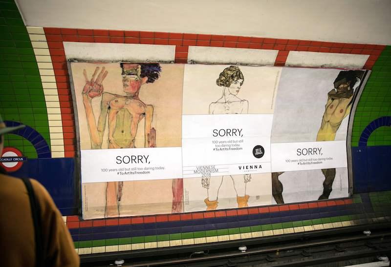 Schiele metropolitana Londra