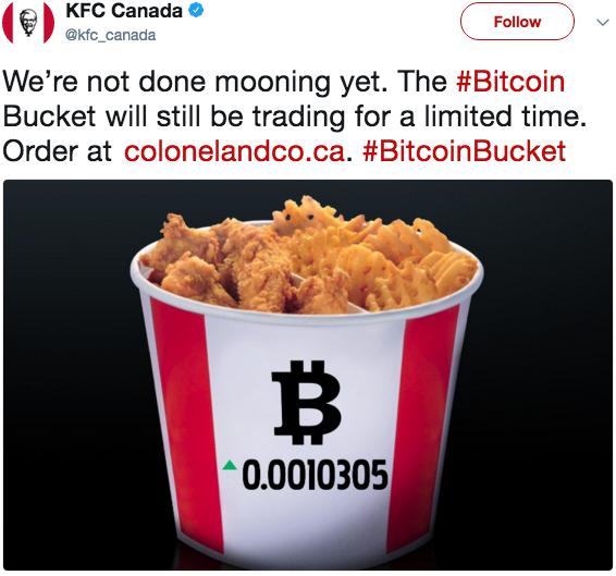 KFC e Bitcoin provocazione o futuro