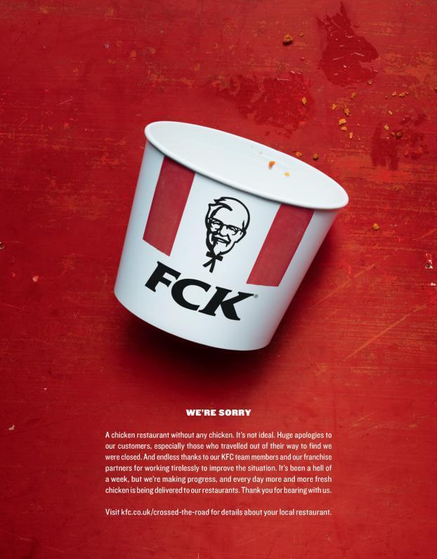 KFC, Prezzemolo & Vitale e Dublin Zoo: i migliori annunci stampa della settimana