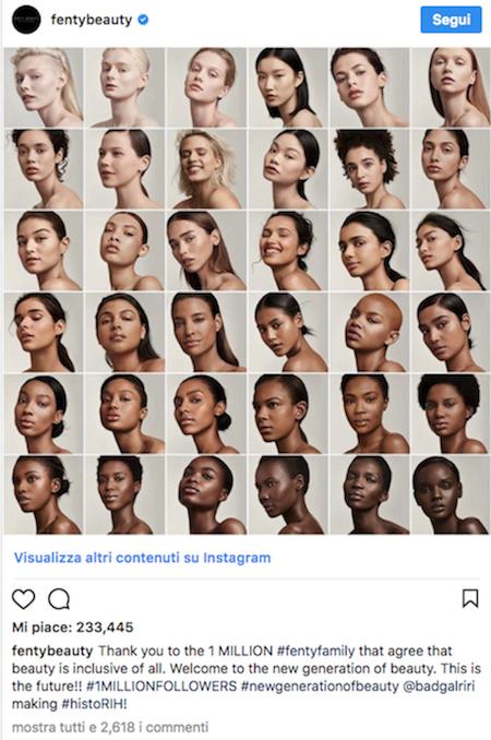 1 Social e Makeup in luna di miele su Instagram