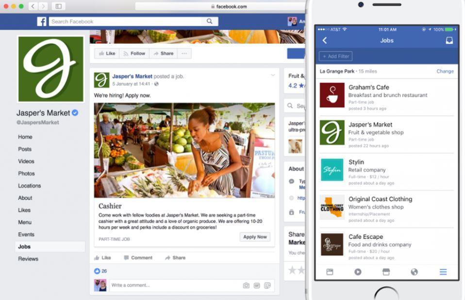 La funzione per cercare lavoro su Facebook arriva in altri 40 paesi